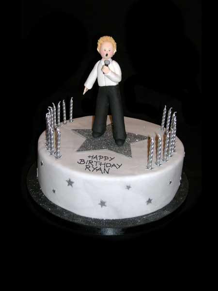 Singer Cake Design